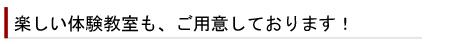 一斉感謝祭開催2008年・秋イベント・体験教室タイトル